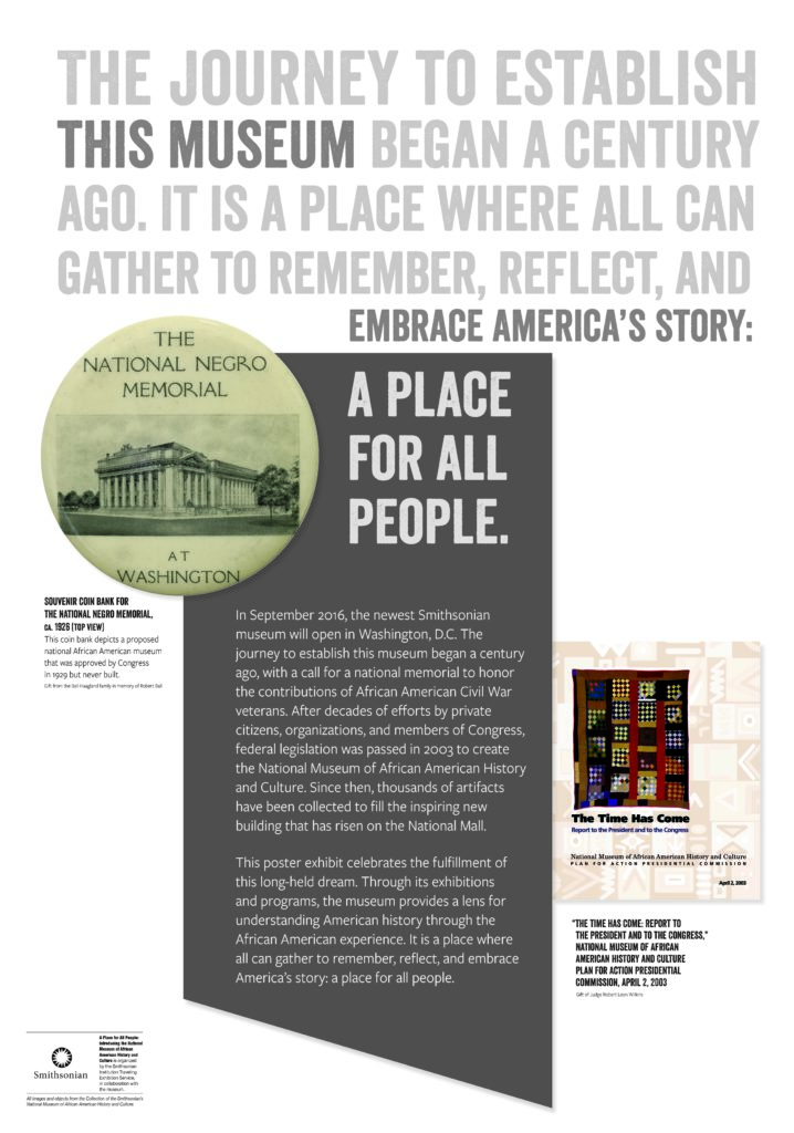 Introduction to a place for all people exhibit
